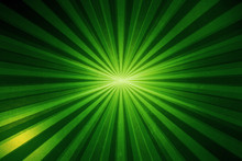 Green Light Sun Burst And Stars With Gradient Abstract Background Graphic Design With Striped