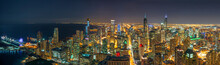 Panorama Top View Of Chicago C...