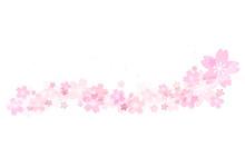 桜の飾り罫 波のライ...