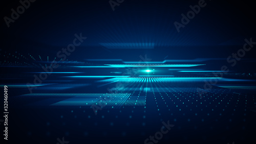 Abstract technology  big data background concept. Fototapete