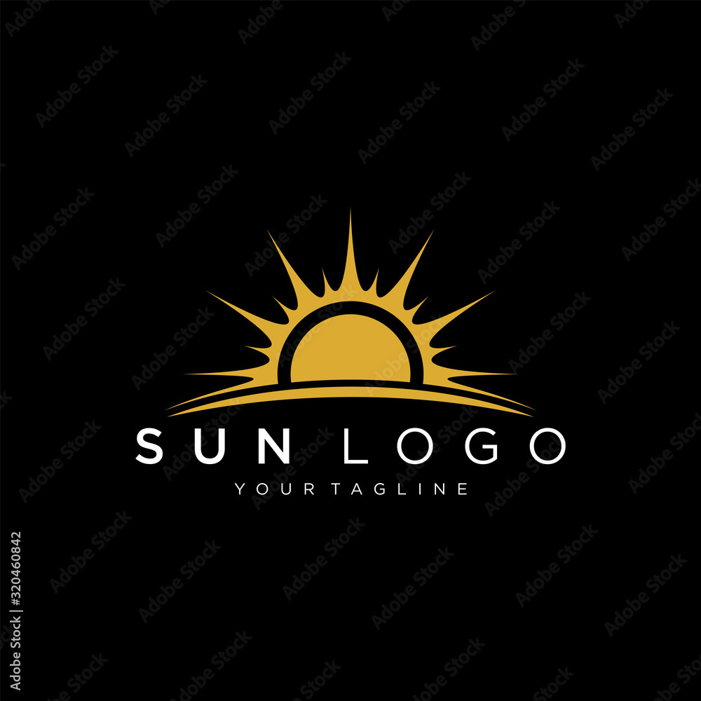 Fototapeta Sun logo design vector template Icon symbol Illustration