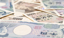 Close Up Japanese Currency Yen...