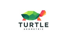 Geometric Low Poly Turtle Logo Collection