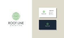 Luxury Tree Root Concept Line ...