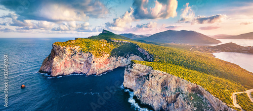 Panotamic view from flying drone Canvas Print
