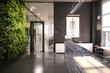 Office Design: Counter Area (conception) - 3d illustration