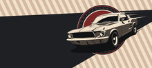 Classic Muscle Car In Vector. ...