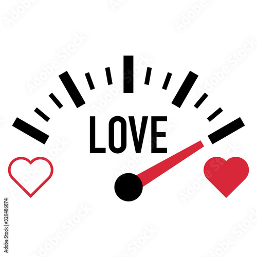 love meter gauge scale valentine day vector Wallpaper Mural