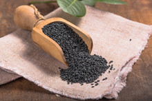 Black Sesame Seeds In The Wood...