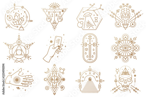 Esoteric symbols Fototapet