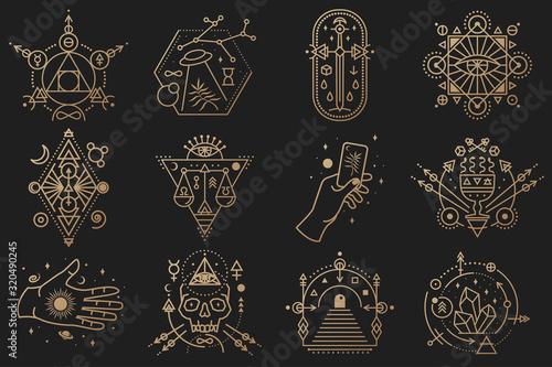 Cuadros en Lienzo Esoteric symbols