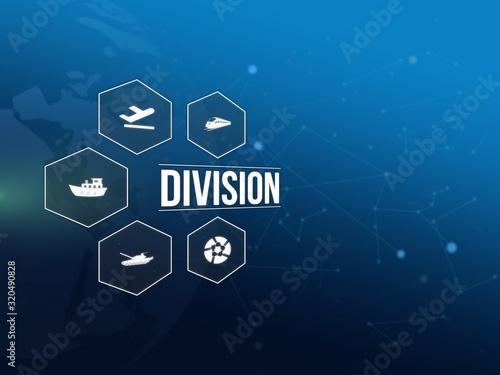 Division Billede på lærred