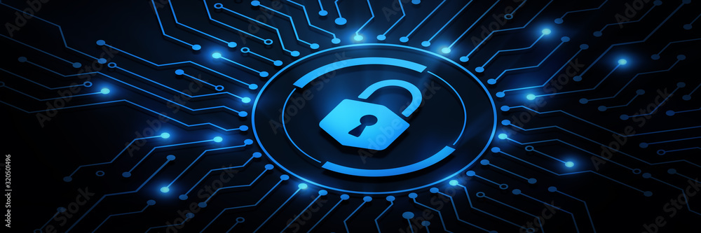 Fototapeta Cyber Security Data Protection Business Technology Privacy concept