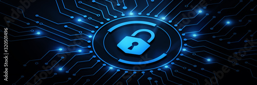 Fototapeta Cyber Security Data Protection Business Technology Privacy concept obraz