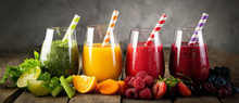 Selection Of Colorful Smoothie...