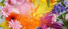 Bunter Blumenstrauss Zu Ostern