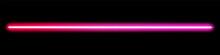 Glowing Neon Stick. Fluorescent Beam Of Laser Light.