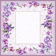 Flower Violet Background