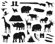 Hunt Icons, Wild Animals And B...