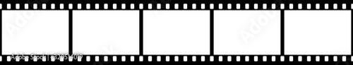 Fototapeta Black and white camera film template. Vector illustration. obraz