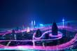 canvas print picture - Smart city big data connection technology concept .