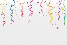 Colorful Confetti And Ribbon F...