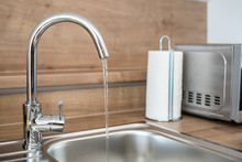 Water Faucet In The New Modern...