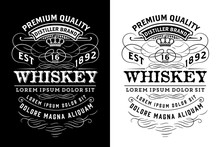 Western Label For Whiskey Or O...