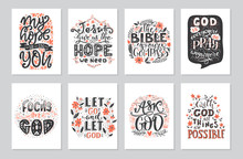 Vector Set Of Greetings Card W...