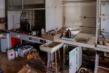 Abandoned Ruined Chemical Labo...
