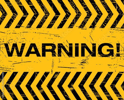 Photo warning sign caution do not enter danger attention traffic road stop icon symbol
