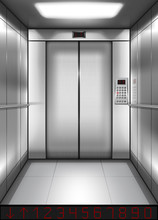 Realistic Elevator Cabin With ...