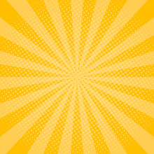 Yellow Rays Background With Ha...