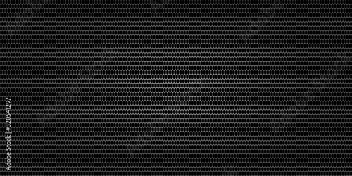 Black metallic abstract background, perforated steel mesh Fototapet