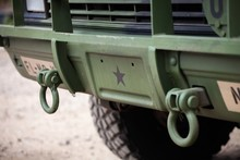 Tow Hooks On Front Bumper Of V...