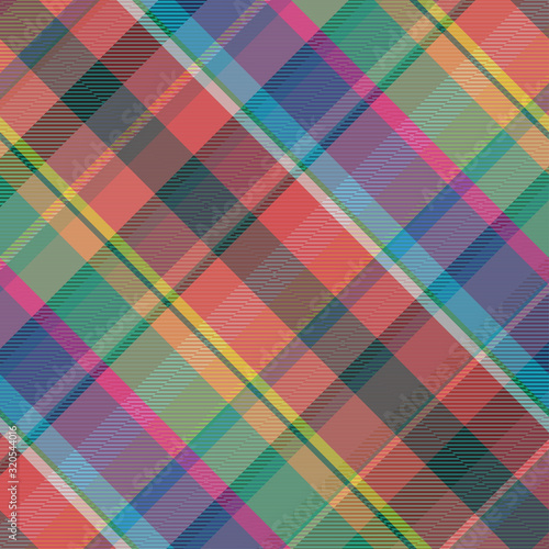 Classical colorful cage pattern. Wallpaper Mural