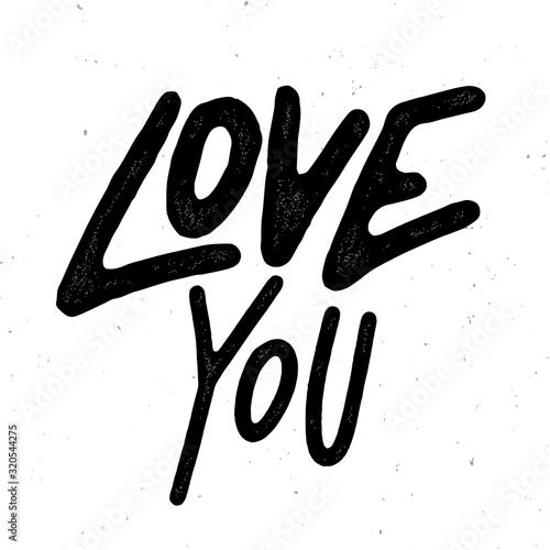 Fotografie, Obraz Love You Valentines Day Card