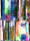Abstract design with art and texture elements. Colored surface