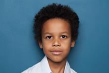 Clever Black Child Student Boy...