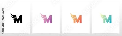 Leinwand Poster Small Wing On Letter Logo Design M