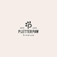 P Paw Letter Tech Logo Vector ...