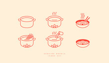 Icons Set For Soba Noodle Pack...