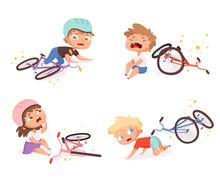 Bike Accident. Kids Fallen Dam...