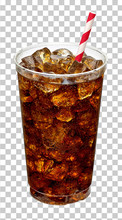 Cola In Takeaway Plastic Cup O...