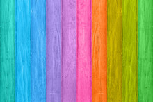 Rainbow Colored Wood Texture B...