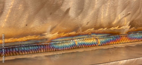 Photo Welding of stainless steel with argon arc welding