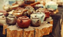 Beautiful Clay Teapots And Mug...