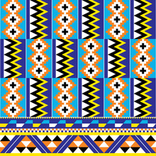 African Tribal Design Kente Nwentoma Textiles Style Vector Seamless Pattern, Retro Design With Geometric Shapes Inspired By Ghana Traditional Cloths