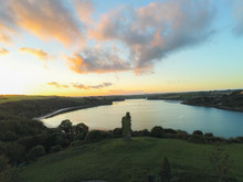Sunset At The Old Ruins Of Desmond Castle Overlooking The River Bandon