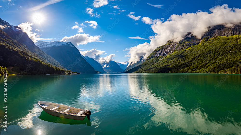 Fototapeta lovatnet lake Beautiful Nature Norway.
